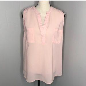 Fun & Flirt | Light blush pink sleeveless blouse